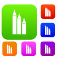 three pencils set collection vector image vector image
