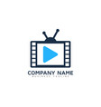tv video logo icon design vector image