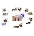 virtual online graduation ceremony vector image