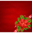 Winter Flower With Red Background vector image vector image
