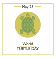 World Turtle Day vector image vector image