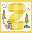 z alphabet letter for kids vector image