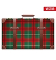 Vintage baggage suitcase for travel vector image