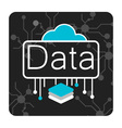 Data cloud vector image