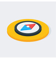Compass Isometric Circle Icon vector image