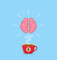 a cup hot coffee with rising aroma vector image