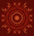 abstract mandala on deep red background with vector image
