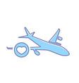 airplane favorites flight plane transport travel vector image vector image