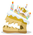angry cake vector image vector image