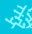 arrows point in different directions concept vector image