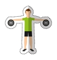 athlete avatar character weight lifting icon vector image vector image