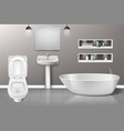 bathroom furniture interior with modern bathroom vector image