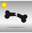 black Bone fracture Icon button logo symbol vector image