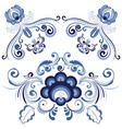 blue floral ornaments vector image vector image