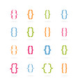 bracket curly set bracket form with various vector image vector image