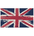 british flag isolated white background vector image vector image