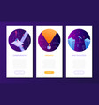 business concepts - set isometric web banners vector image vector image