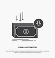 business cost cut expense finance money icon vector image vector image