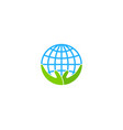 care globe logo icon design vector image