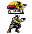 cartoon set mascot viking warrior vector image vector image