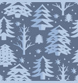 christmas cut out seamless pattern vector image