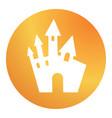 circle gradient orange halloween castle building vector image vector image
