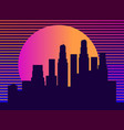 cityscape with skyscrapers in the style of the vector image vector image