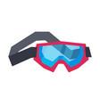 classic snowboard or ski goggles winter sport vector image