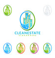 cleaning service logo design eco friendly vector image