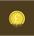 cracked pound coin vector image