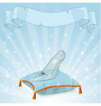 Crystal slipper background vector image vector image