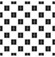 Dubble glass door pattern simple style vector image vector image