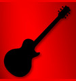 electric guitar silhouette vector image vector image