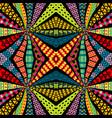 ethnic motifs kaleidoscope pattern vector image vector image