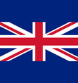 flag of united kingdom in national colors vector image