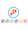 forest fire rounded icon vector image