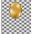 gold shine air balloon with ribbon isolated on tra vector image vector image