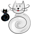 happy cat cartoon vector image vector image