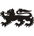 heraldic lion tattoo vector image vector image