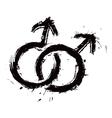 Homosexual mans love vector image