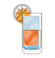 isolated orange juice glass vector image