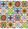 mexican talavera ceramic tile pattern vector image vector image