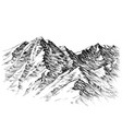 mountains sketch mountains ranges hand drawing vector image vector image