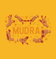 mudra pattern indian hands yoga meditation vector image