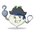 pirate turnip character cartoon style vector image vector image