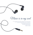 Realistic Headphones Poster vector image