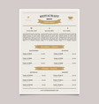 restaurant menu in vintage style coffee vector image
