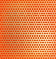 Retro orange hexagon dots background vector image