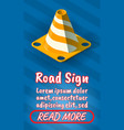 road sign concept banner comics isometric style vector image vector image