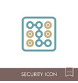 security code icon phone lock vector image vector image